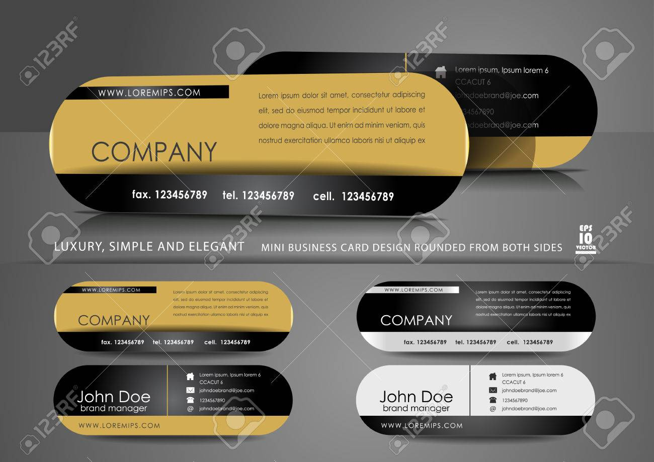 Mini business card design in black and gold color royalty free mini business card design in black and gold color stock vector 38200466 colourmoves