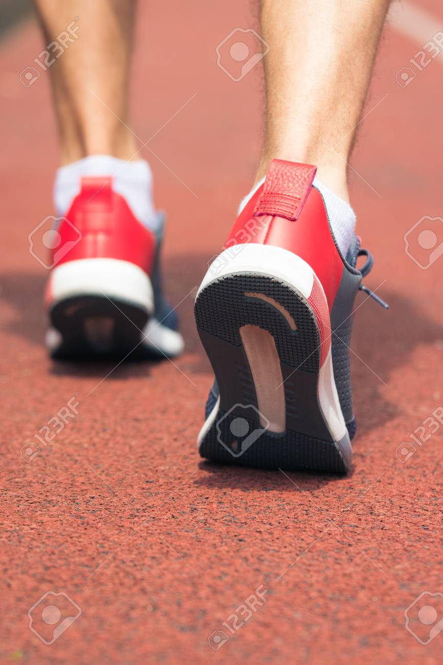 Running Shoes On The.. Stock Photo