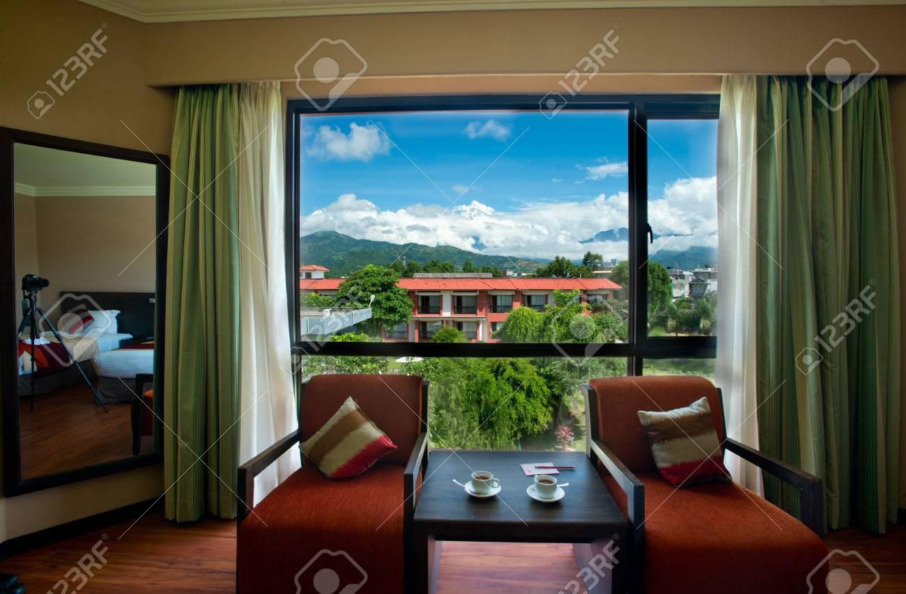 Interior Design Bedroom In Nepal Stock Photo