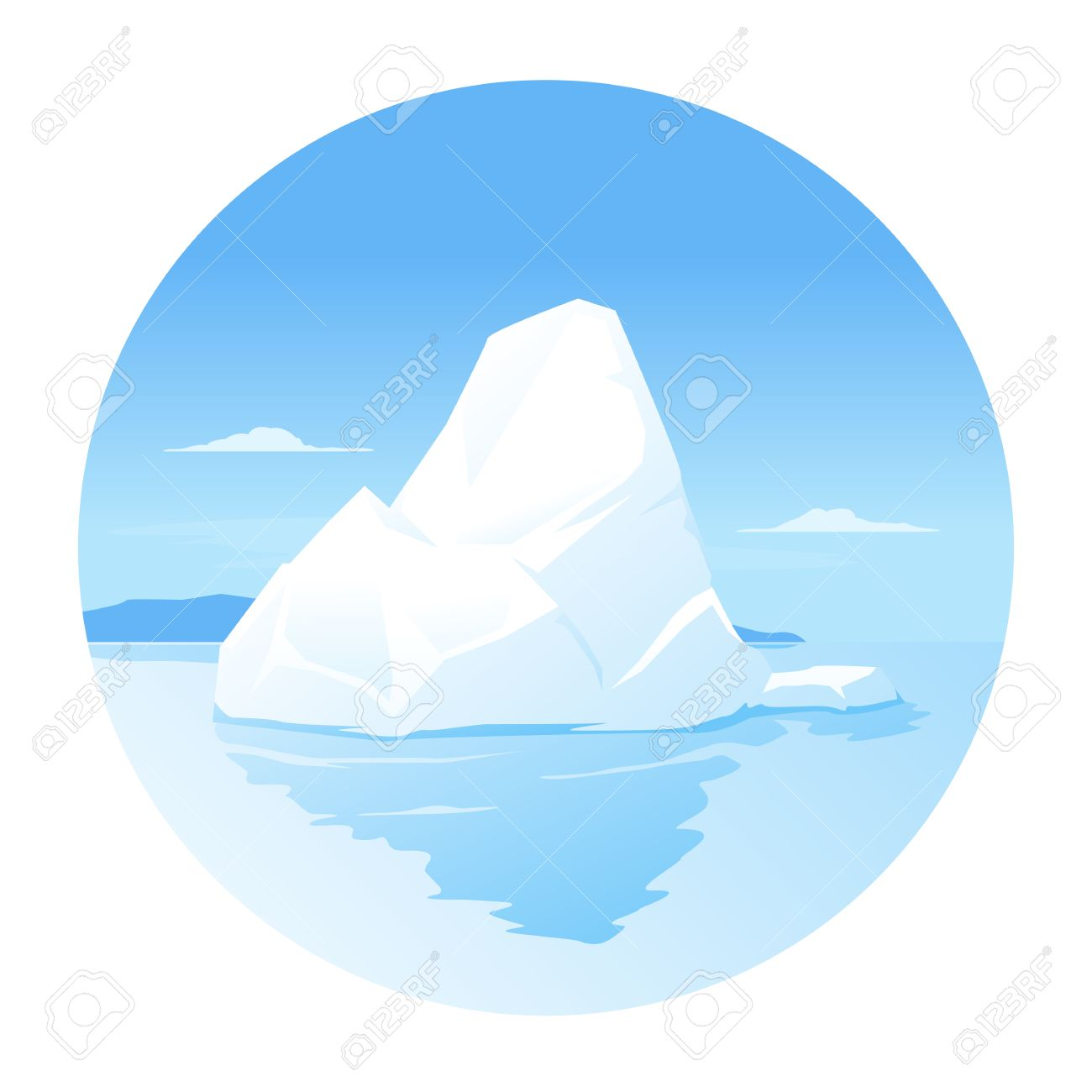 one iceberg in the sea tip of the iceberg isolated royalty free rh 123rf com iceberg lettuce clipart iceberg lettuce clipart