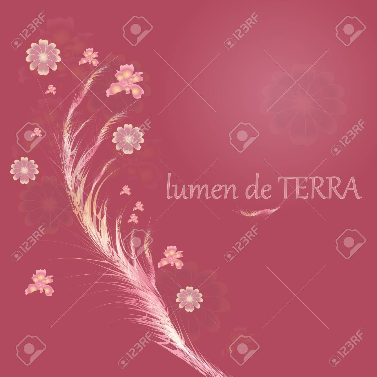 Glowing with abstract flowers Stock Vector - 12485480