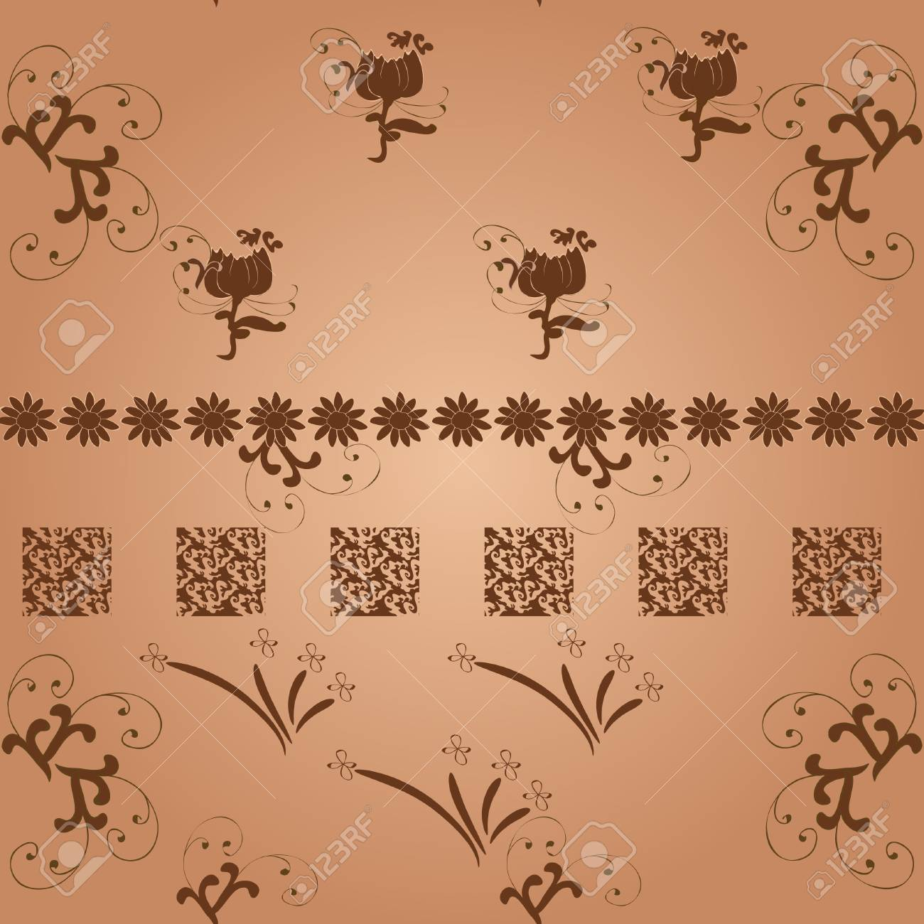 seamless flower background Stock Vector - 13579183