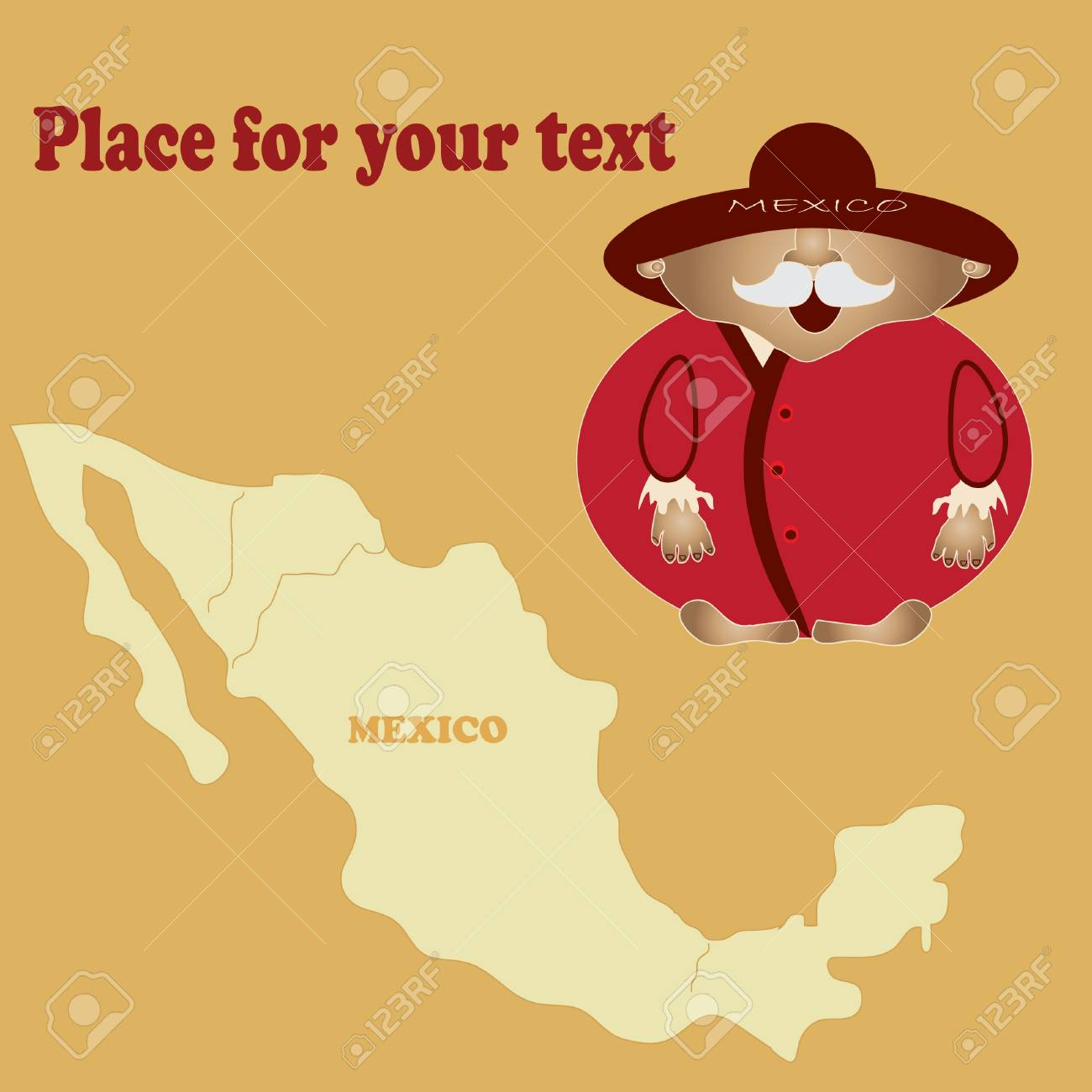 bright picture of a man from Mexico  Vector  Your text Stock Vector - 13993960