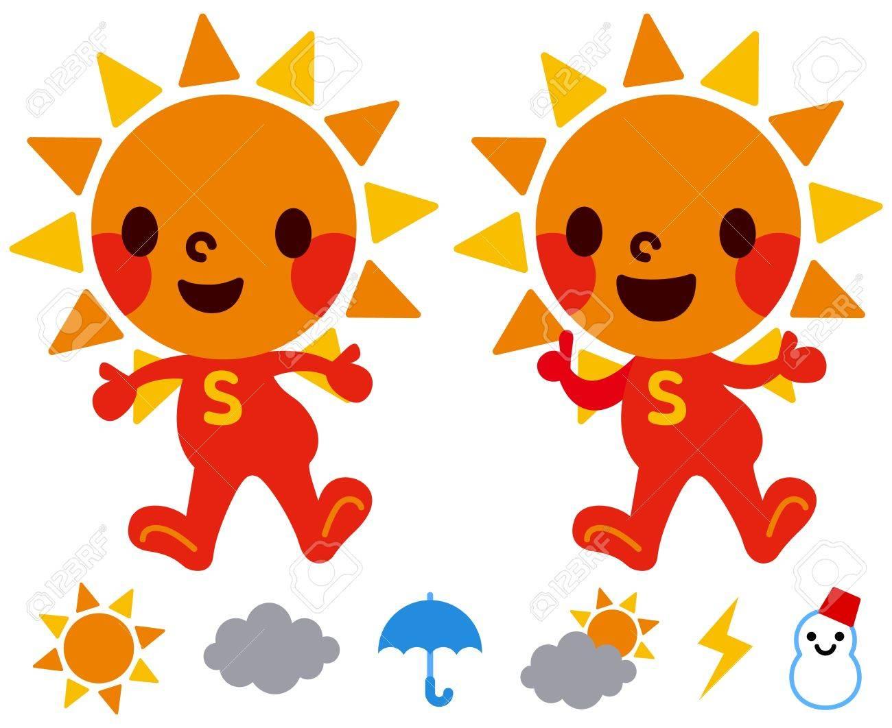 Sun s character Stock Vector - 18066238