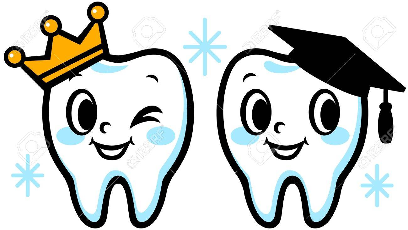happy smiling tooth graduation cap and crown royalty free cliparts rh 123rf com tooth clipart png tooth clip art images