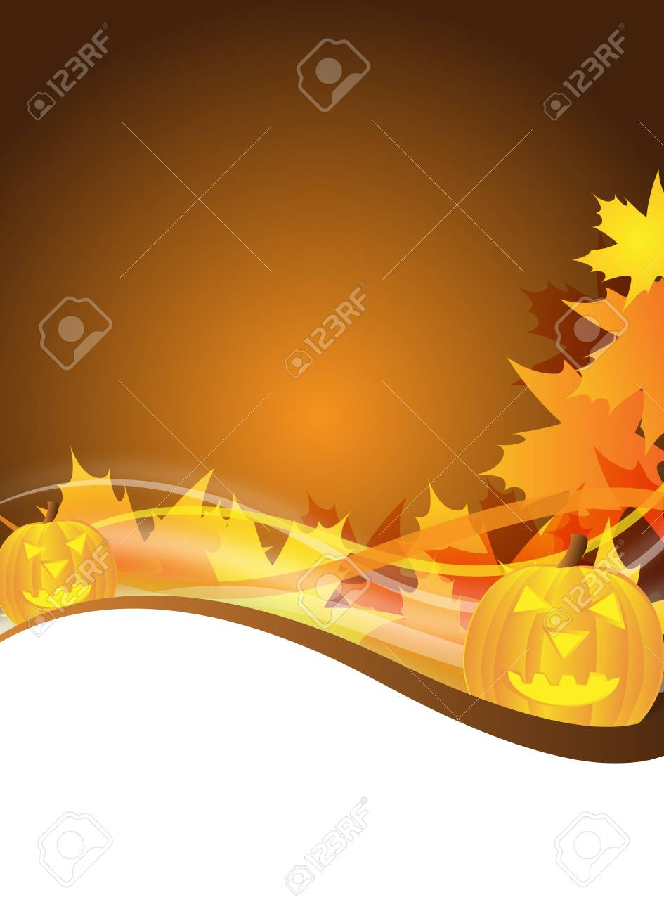 abstract halloween flyer design with pumpkins Stock Photo - 6261922