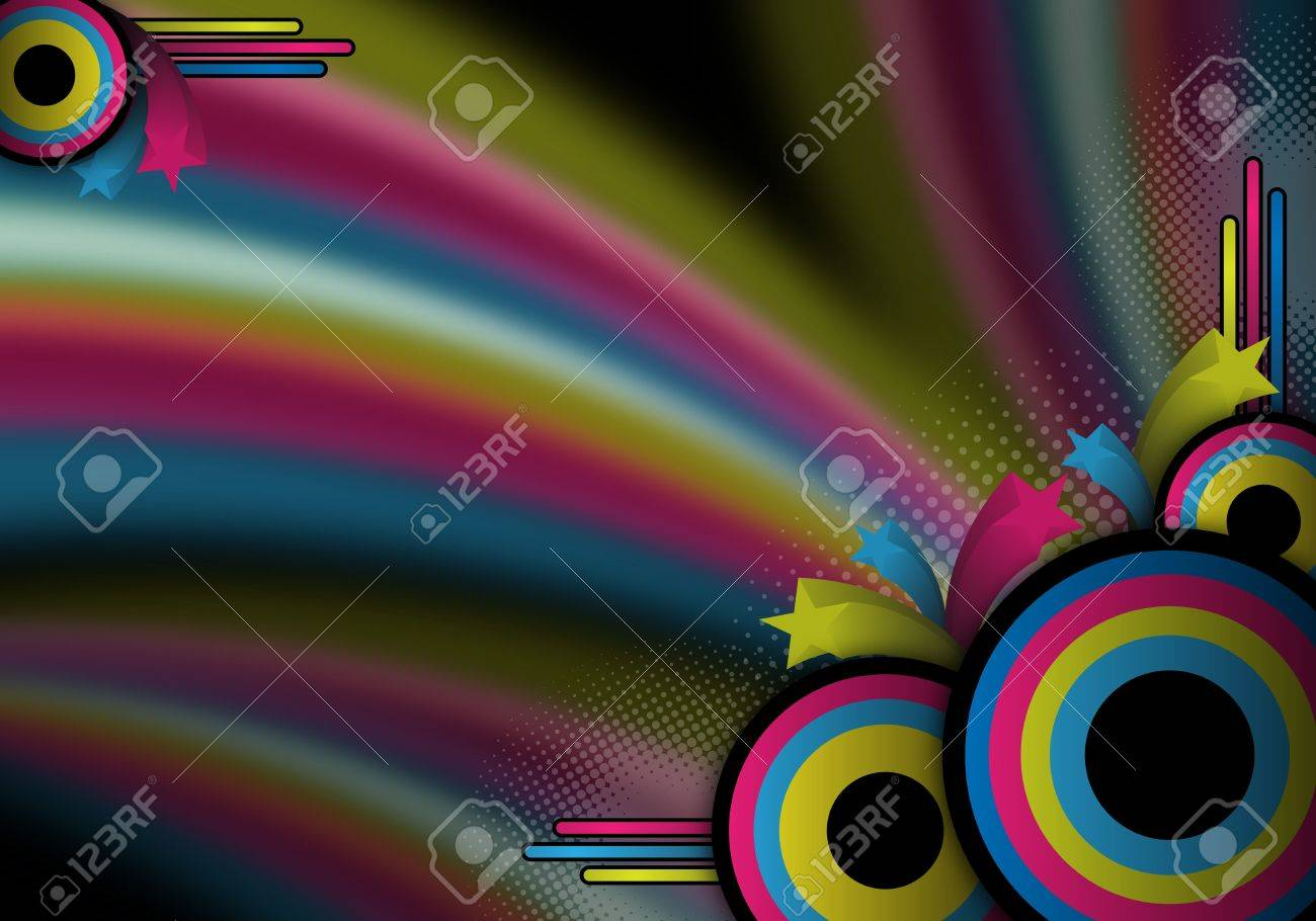 abstract colorful retro background for design Stock Photo - 6293166