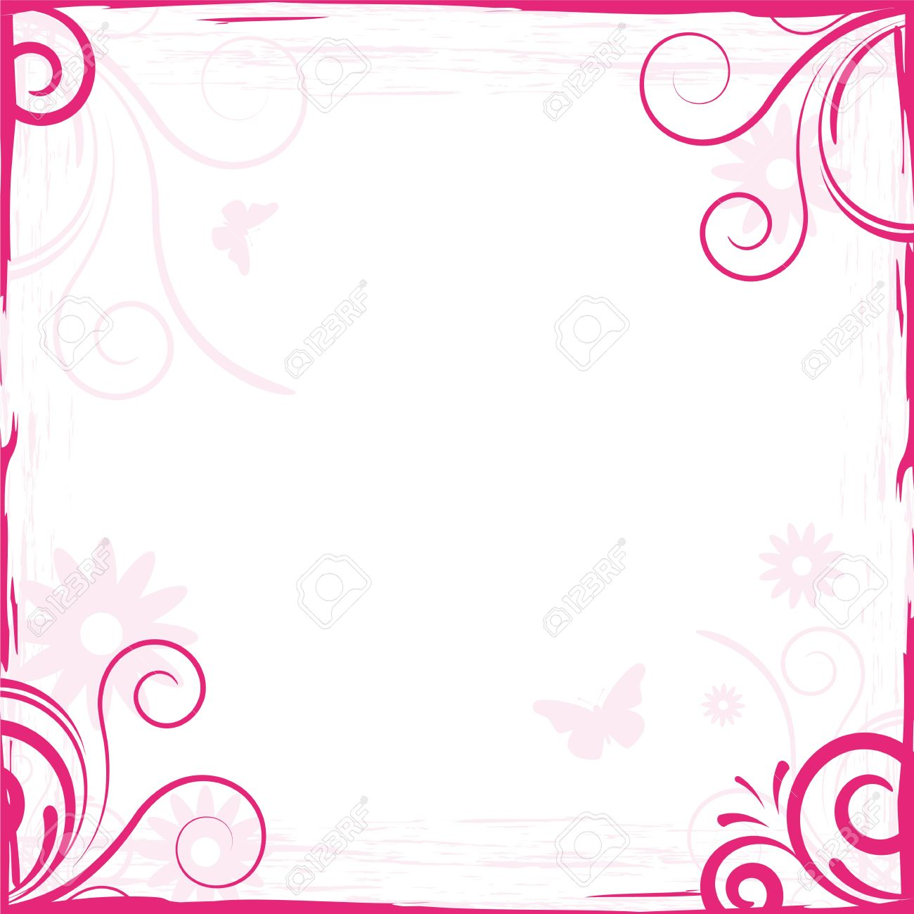 abstract pink floral background frame for design stock photo 6293161