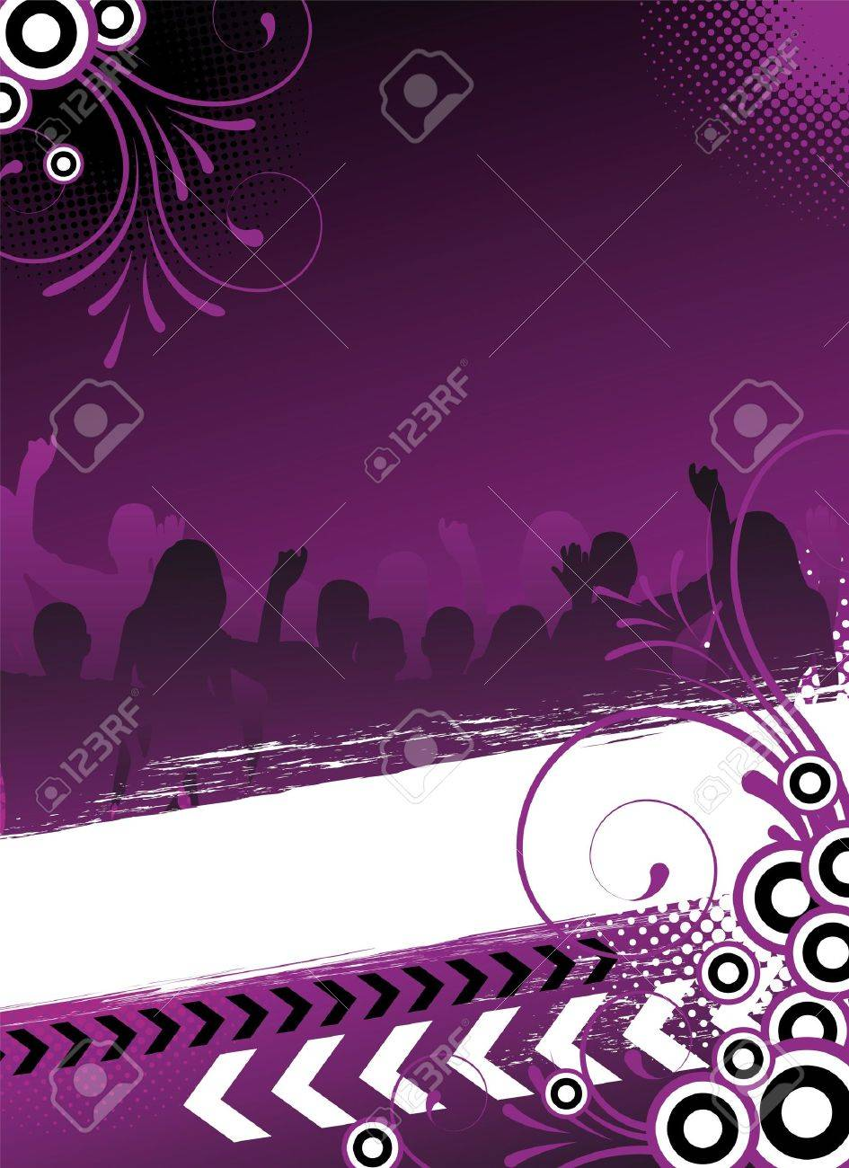 party flyer with dancing people Stock Photo - 8197931