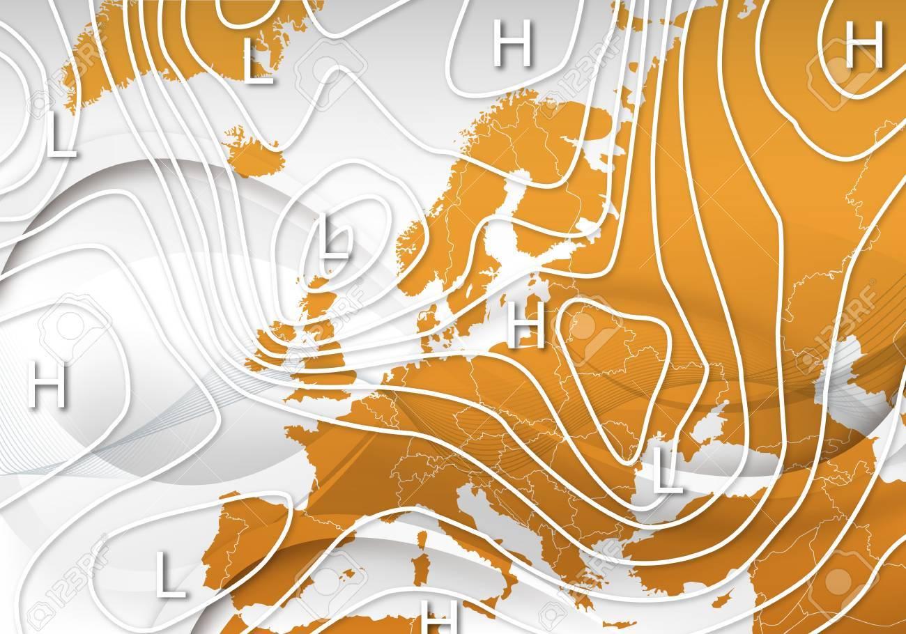 Mapa De Isobaras Europa.Un Mapa Meteorologico De Europa