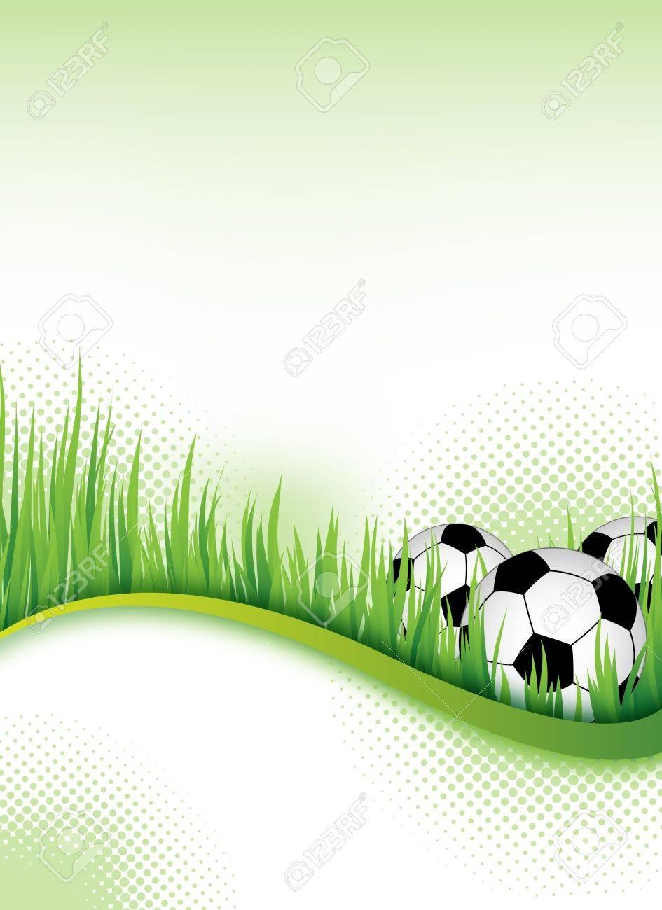 An Abstract Football Flyertemplate For Design Photo – Soccer Flyer Template