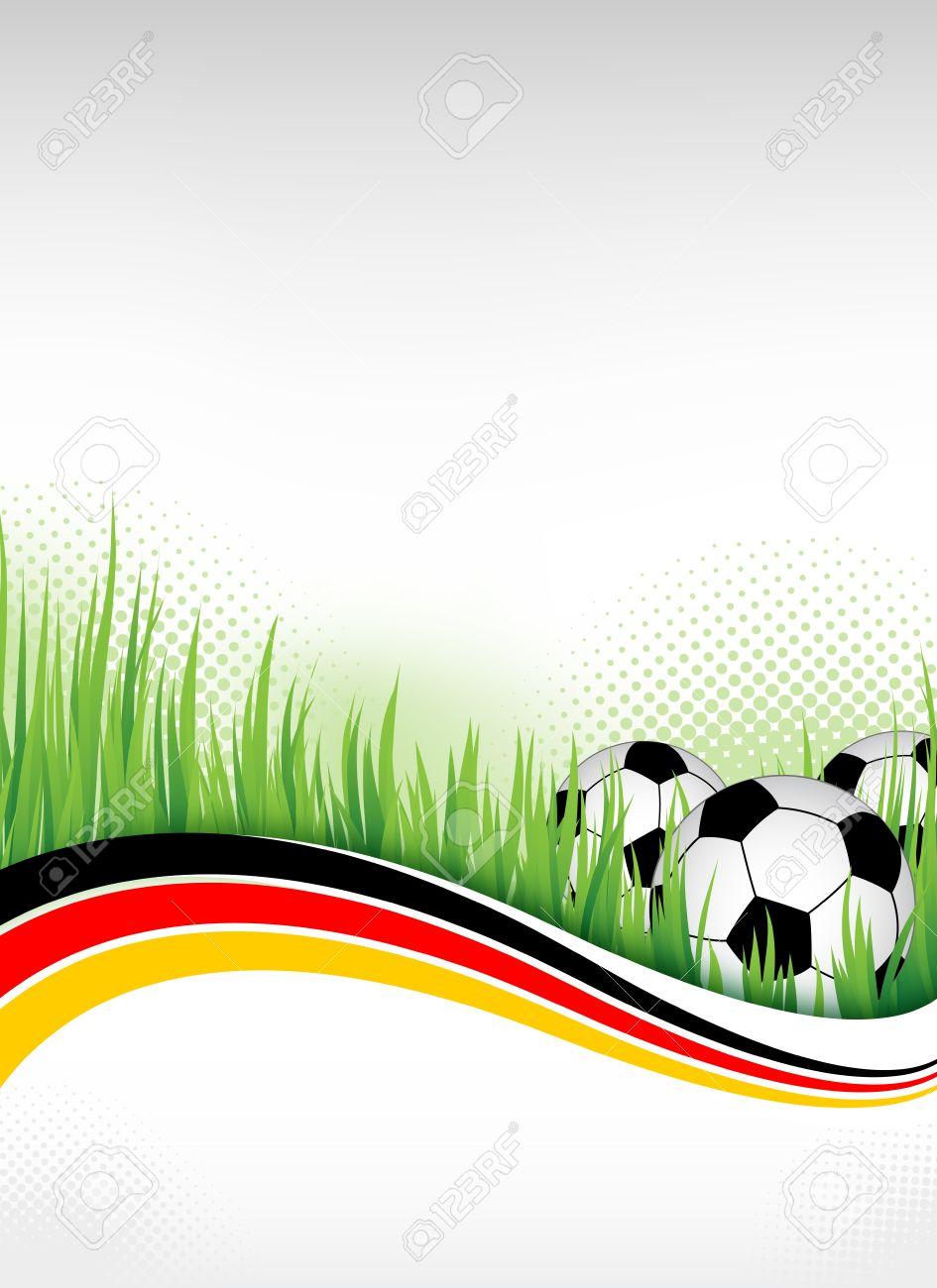 Deutsch Fußball Hintergrund Vorlage Für Design Lizenzfreie Fotos ...