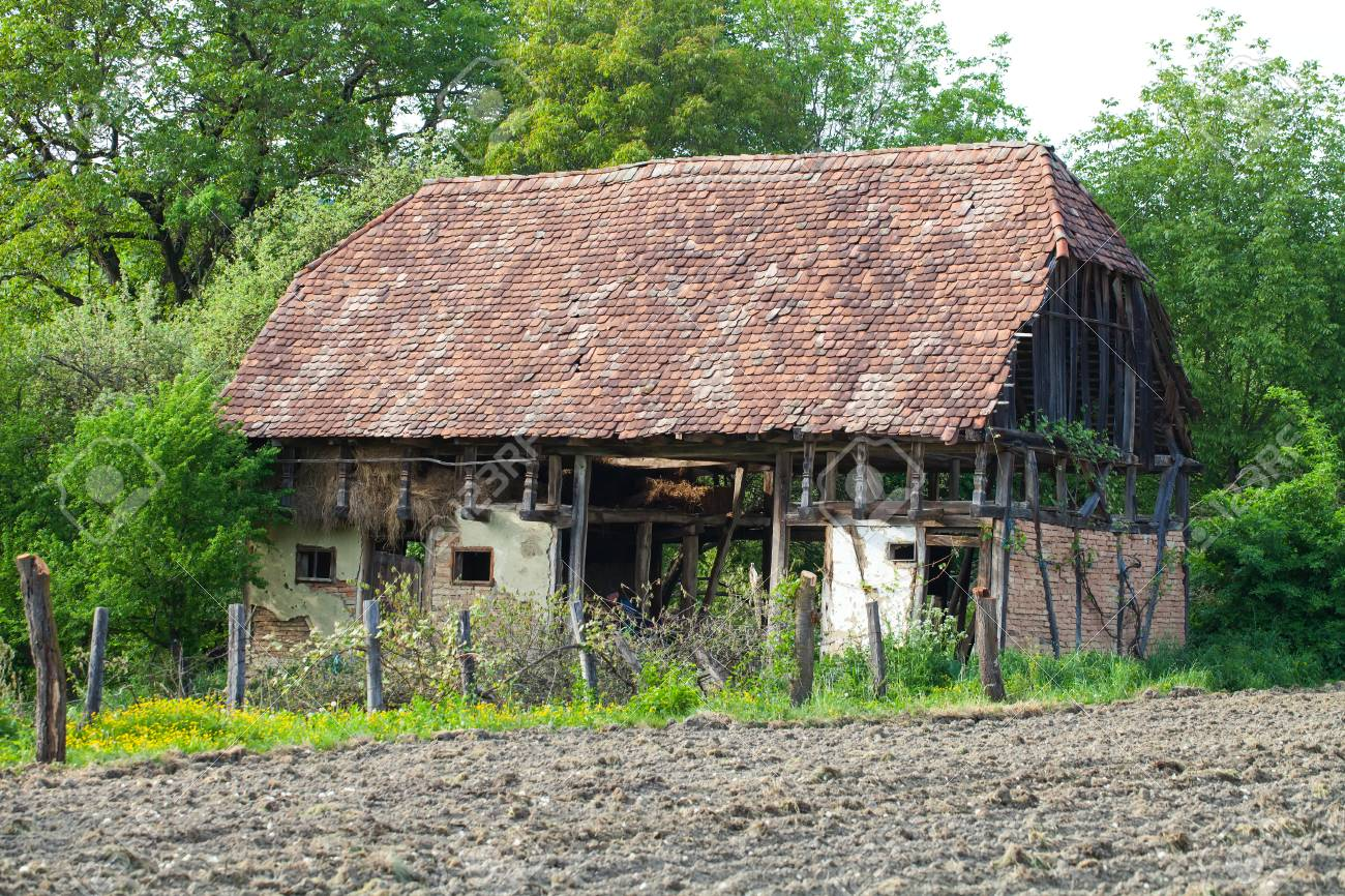 Old Abandoned Small Cottage In The Middle Of Transylvania Romania Stock Photo Picture And Royalty Free Image Image 118453757