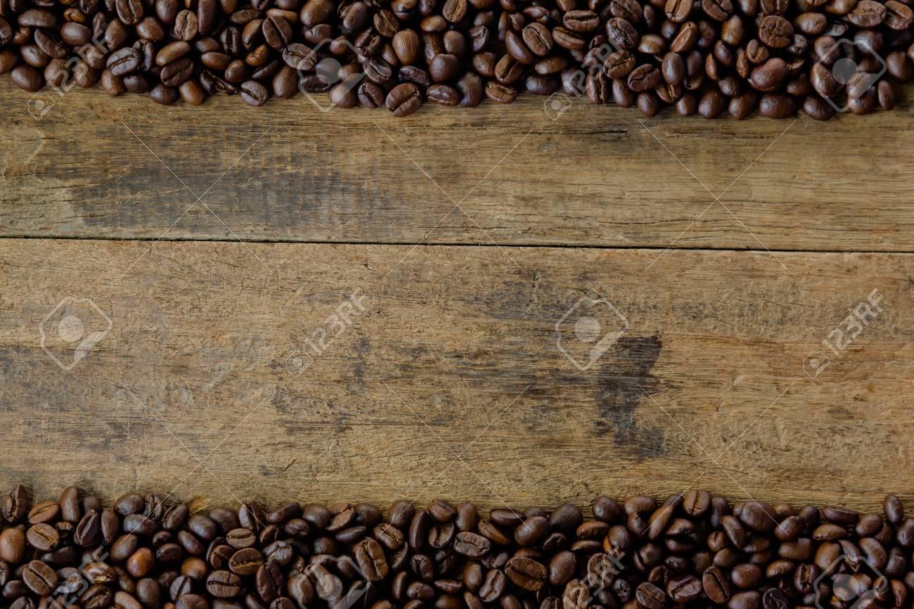 Remarkable Stack Of Roast Coffee Beans Copy Space Of Rustic Wood Table Inzonedesignstudio Interior Chair Design Inzonedesignstudiocom