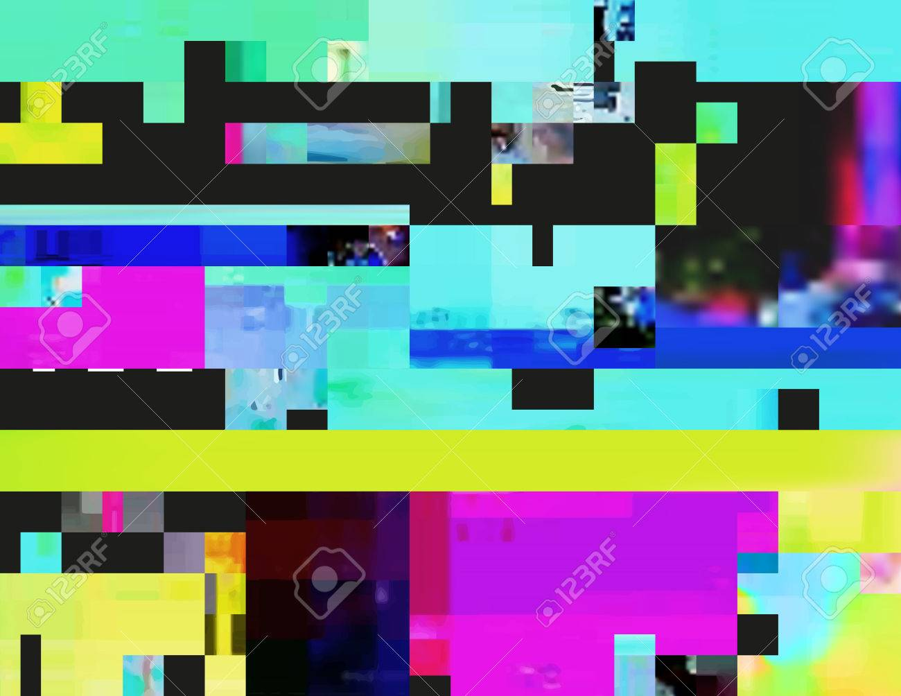 Glitch Background In The Rave Aesthetic Random Digital Signal