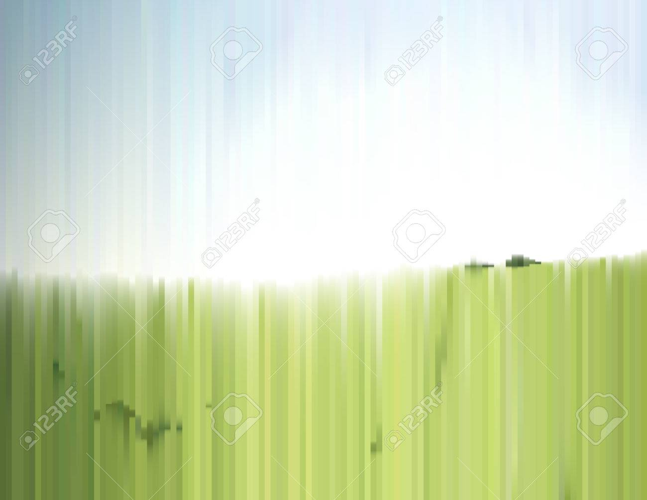 Paysage Dete Avec Effet Dune Photo En Tranches Vert Champ Dherbe Et De Ciel Clair Fond Degrade Pour Une Affiche Couverture Carte Visite