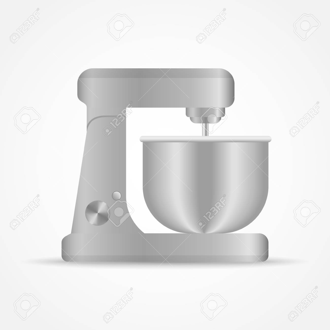 Kitchen stand mixer isolated on white background. Vector illustration.
