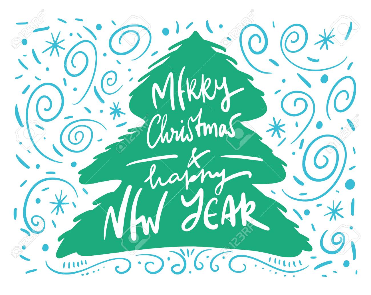 Merry Christmas Wishes And Winter Holiday Elements Christmas