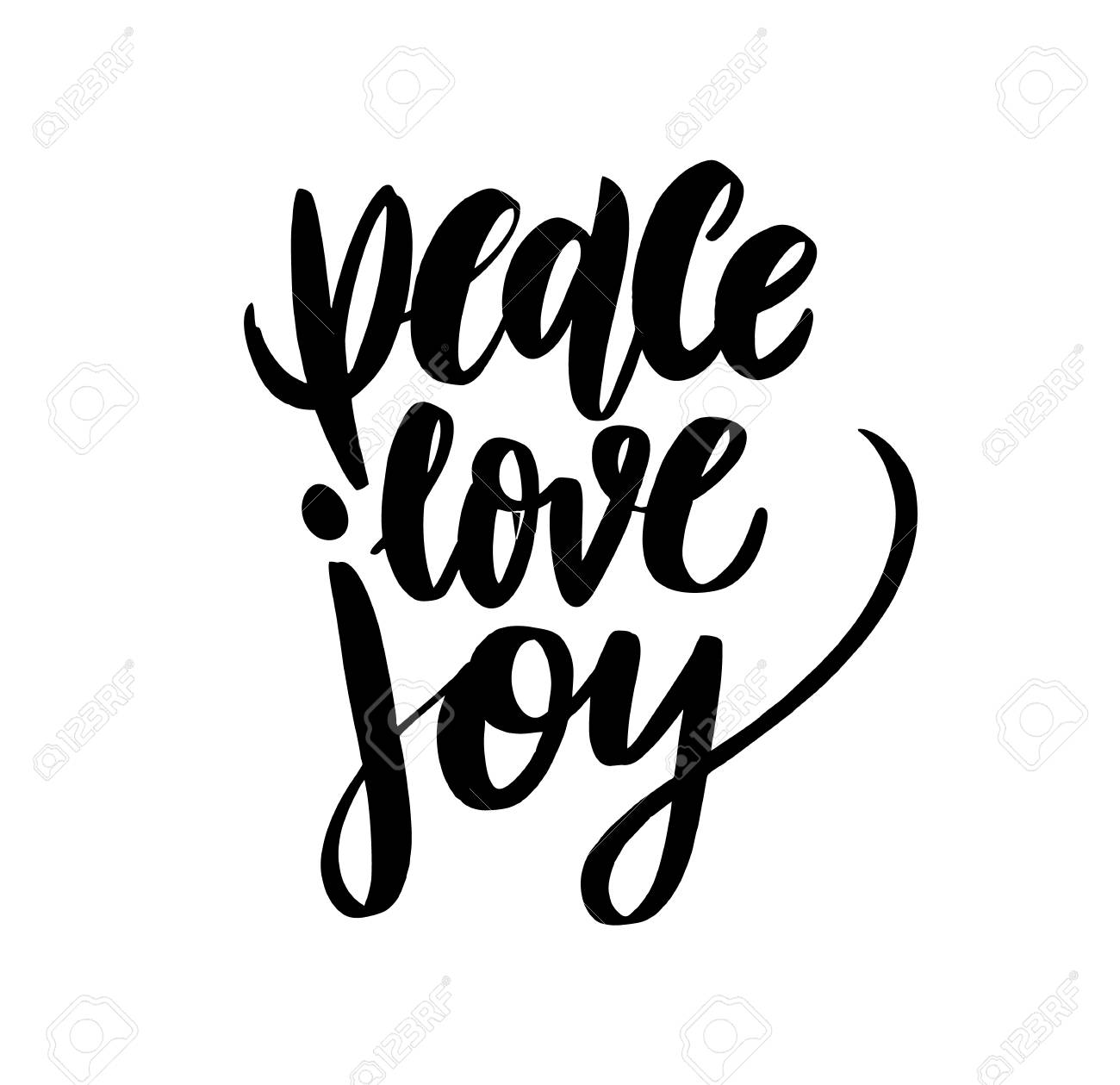 Peace Christmas Quotes.Merry Christmas Vintage Calligraphic Quote Peace Love Joy Vector