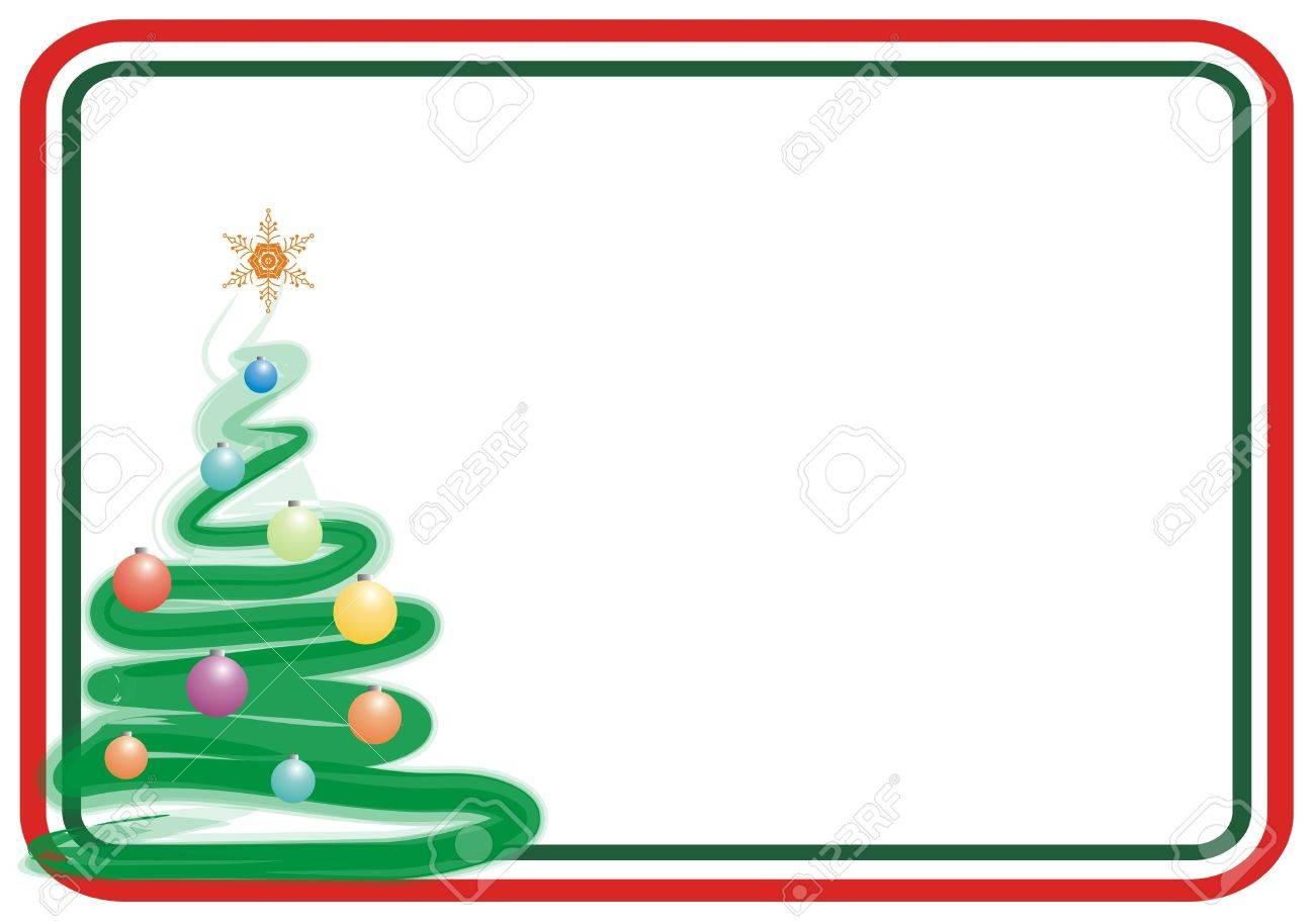 Marcos Para Fotos De Arbol De Navidad.Color Arbol De Navidad Marco Para Las Tarjetas De Felicitacion