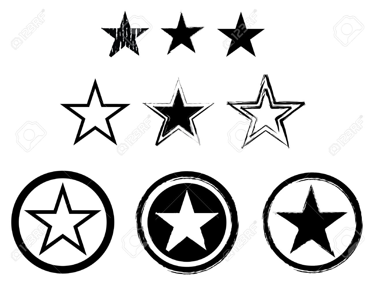 Set of stars in black and white for army or navy stock photo set of stars in black and white for army or navy stock photo 4030290 buycottarizona