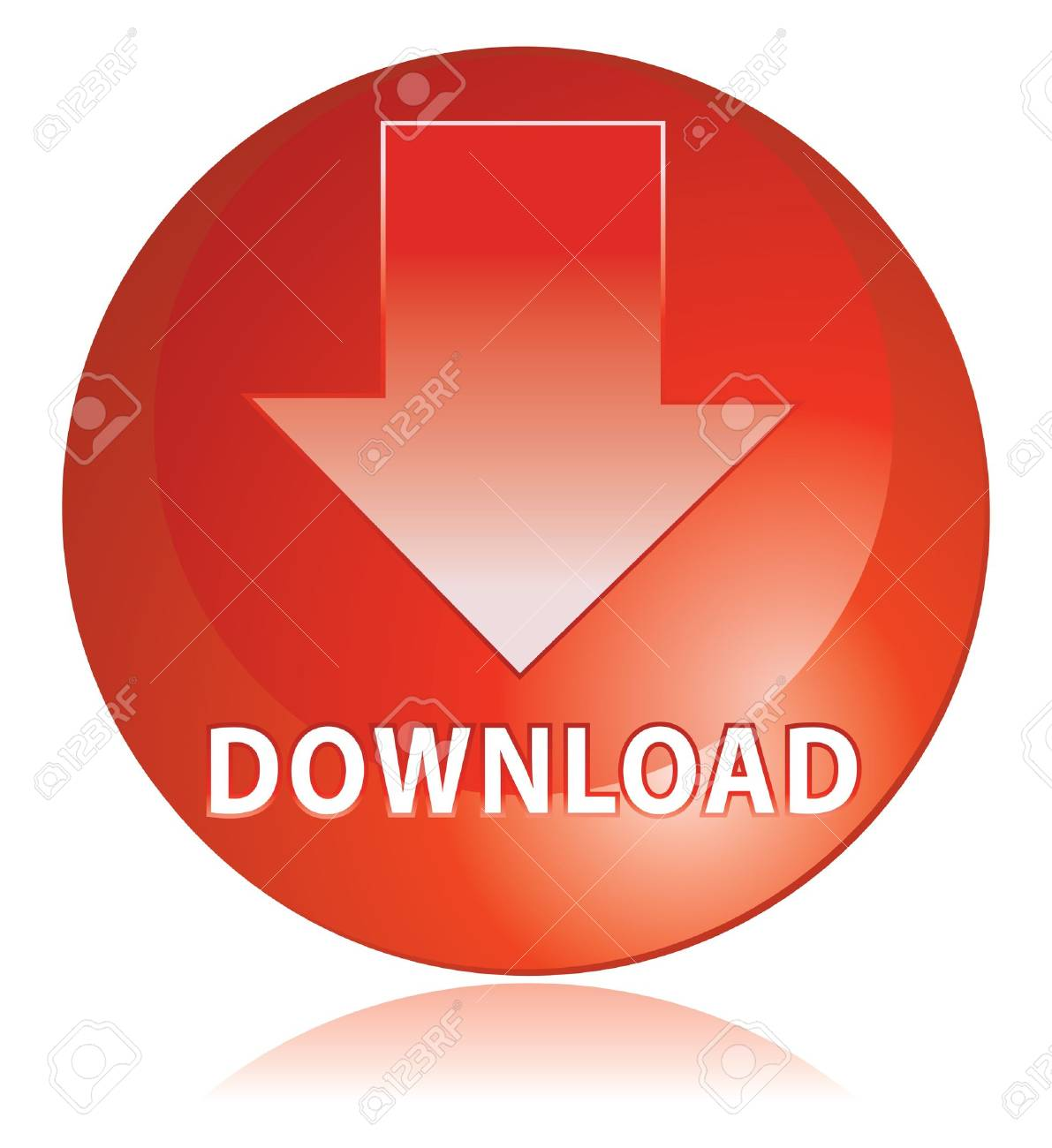 red download icon in vector mode Stock Photo - 4153542