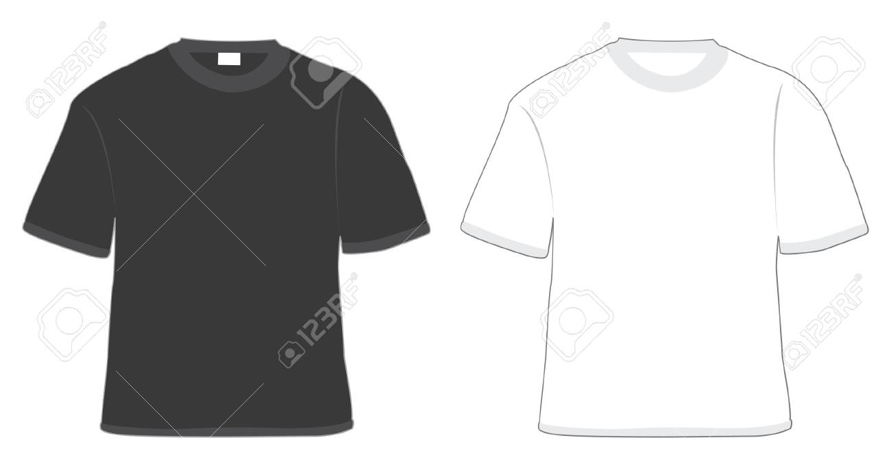 t-shirt black and white in vector Stock Photo - 4179275