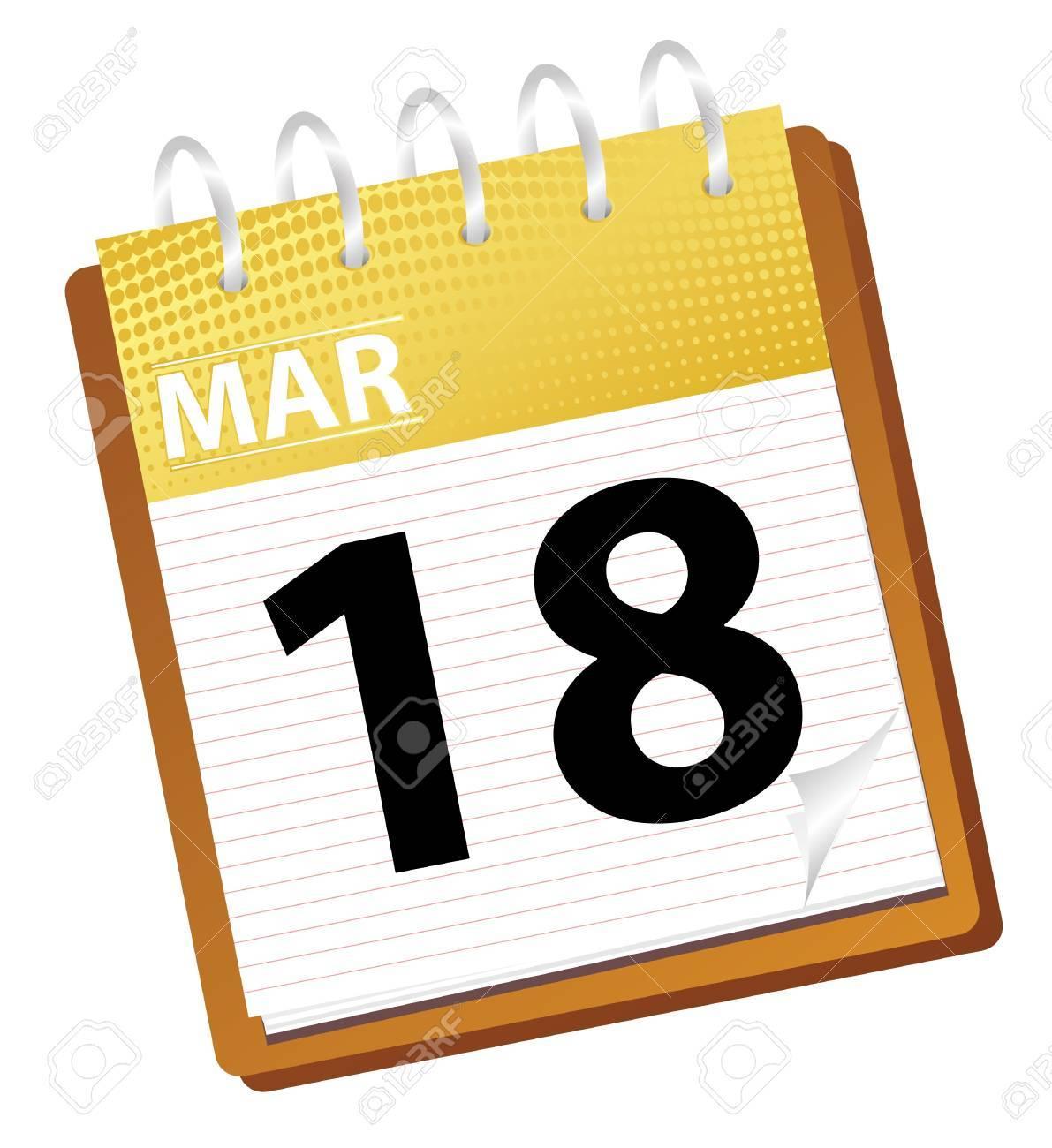 calendar march in vector mode Stock Photo - 4354087