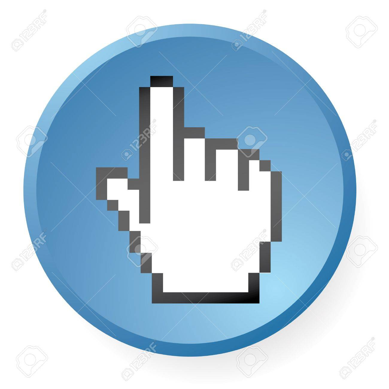 computer hand icon in vector mode Stock Photo - 4407813