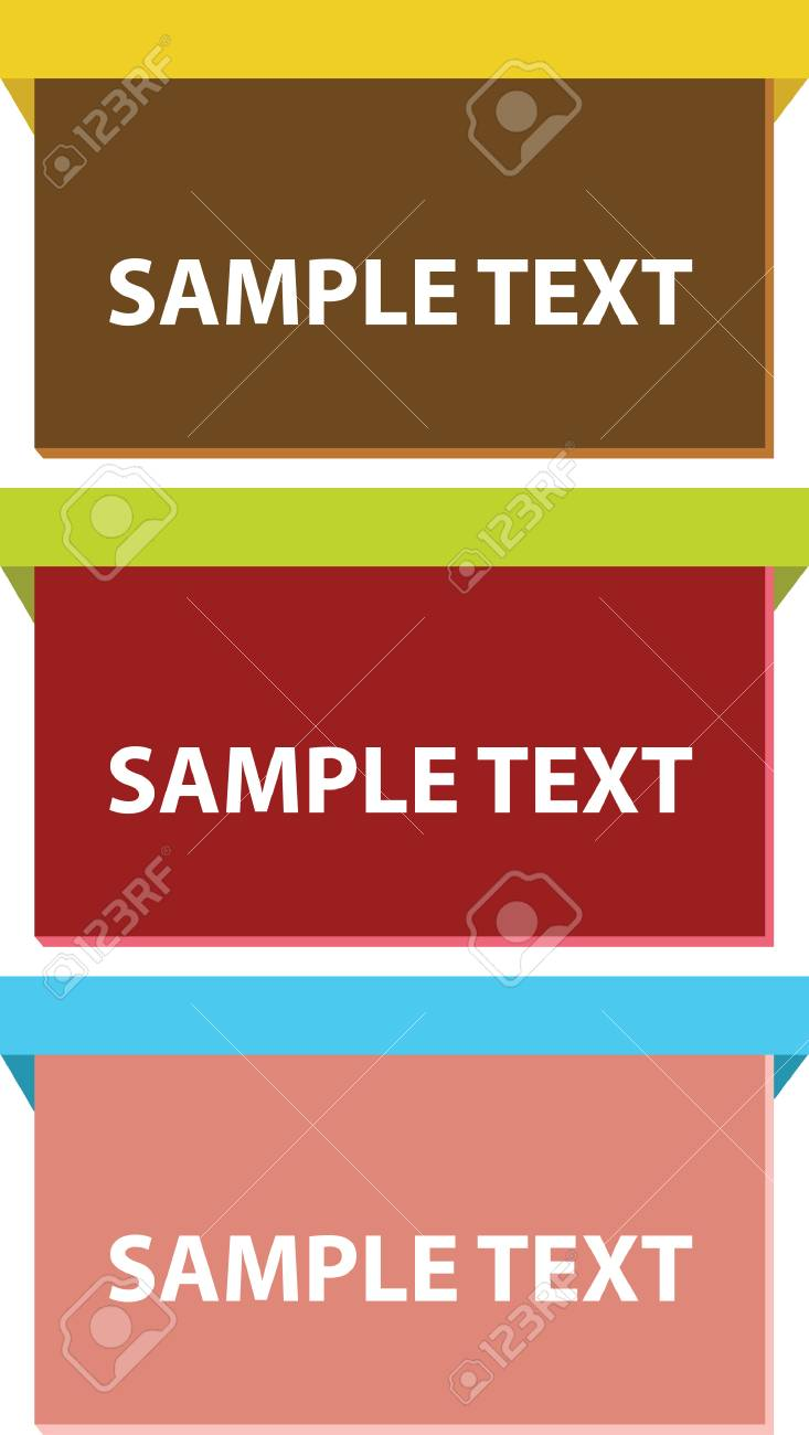 set of box signs in vector Stock Vector - 5131860