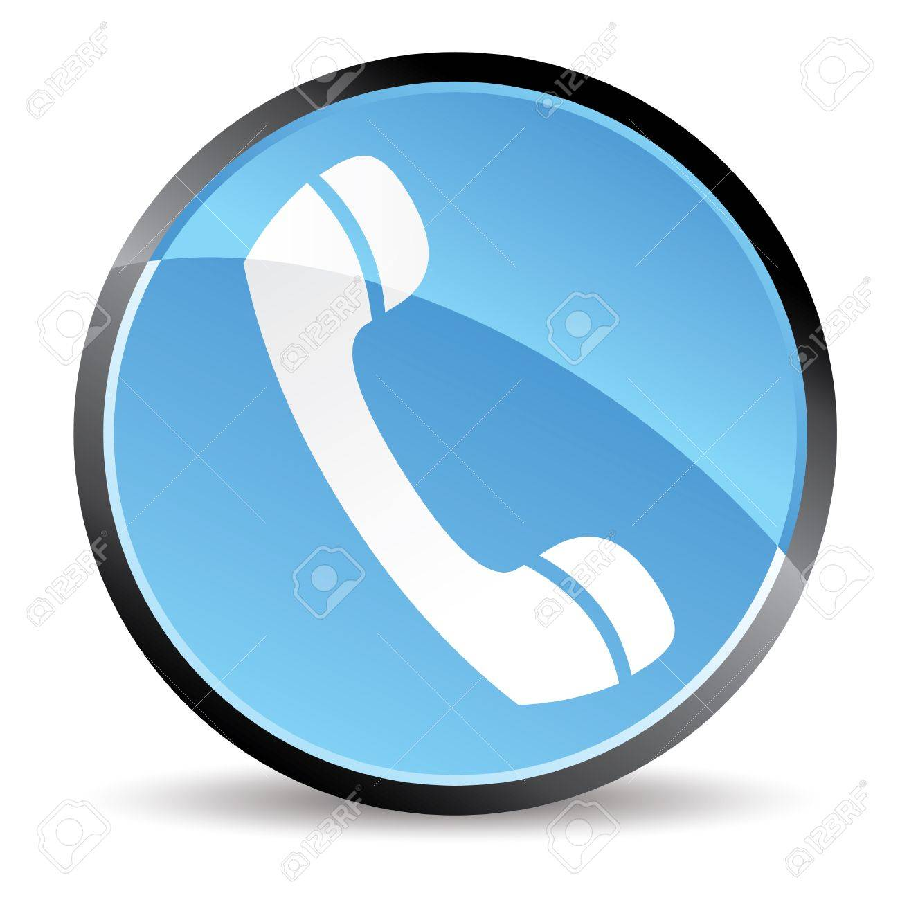 phone icon in blue tones vector Stock Vector - 5458020