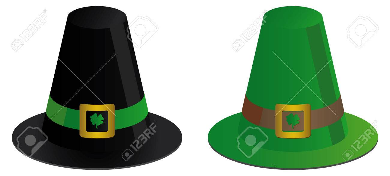 two irish hats with clovers Stock Vector - 5940054