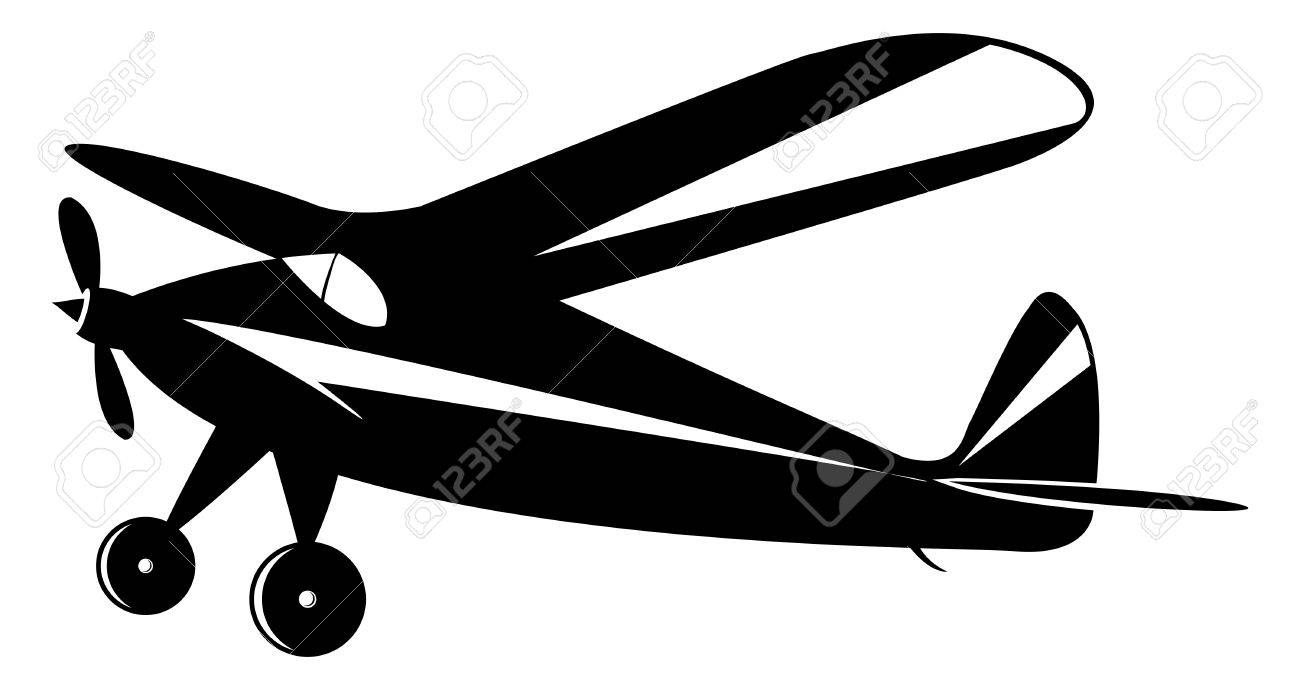 vintage airplane in black and white toner, vector mode Stock Vector - 6061798