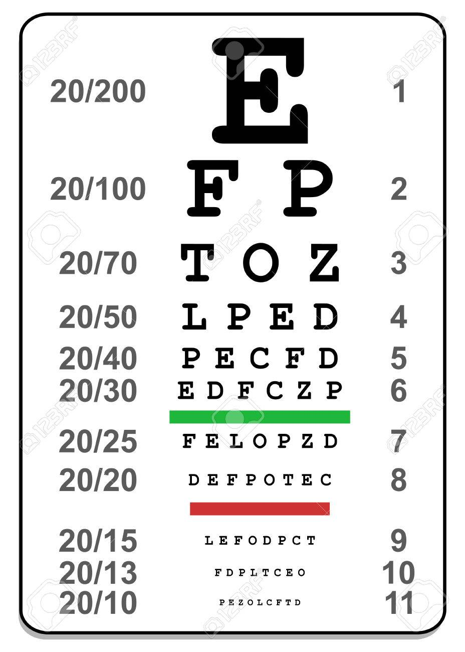 Sign For Eye Test Use By Doctors Royalty Free Cliparts, Vectors ...