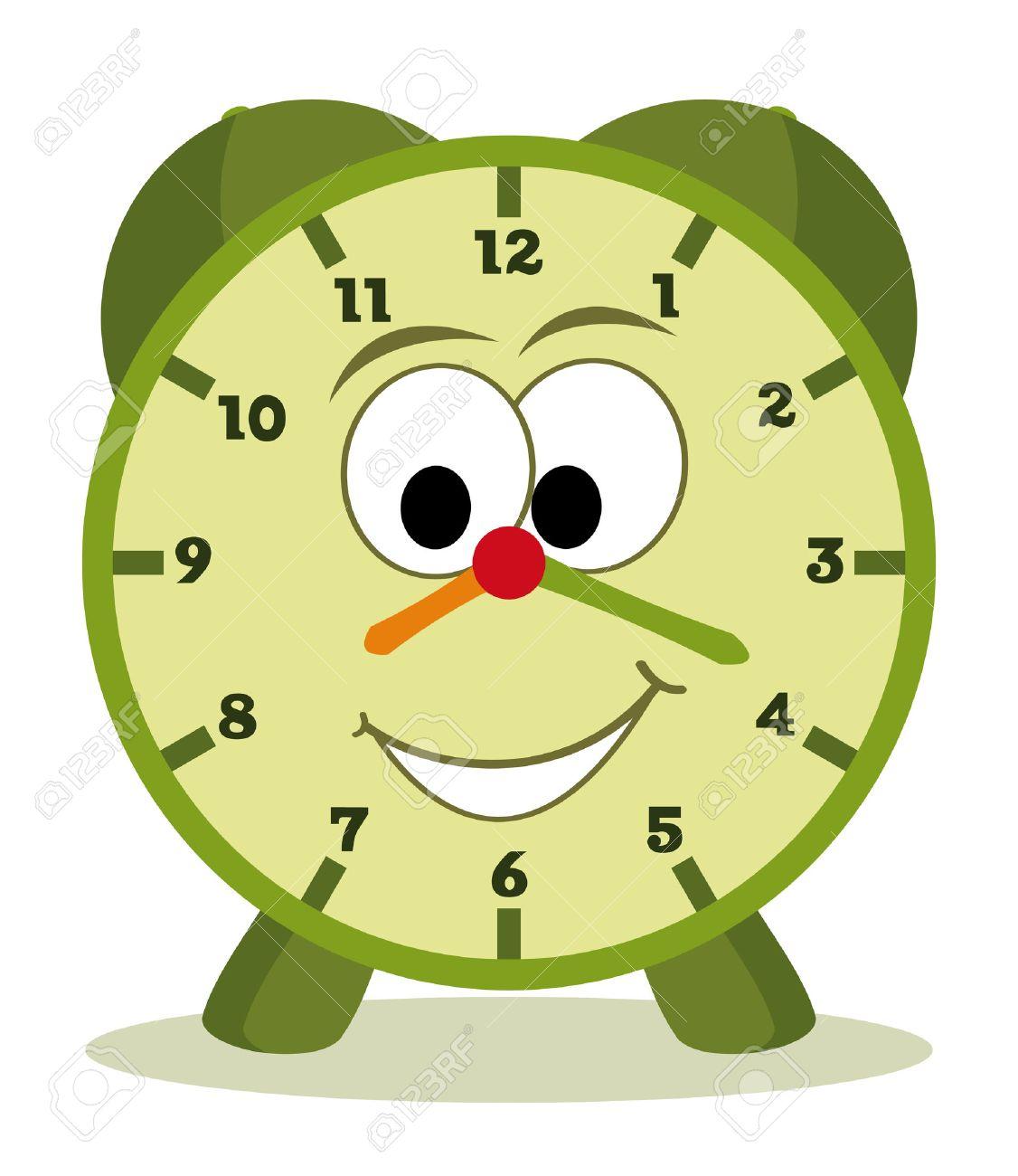 funny cartoon clock for kids Stock Vector - 8433221