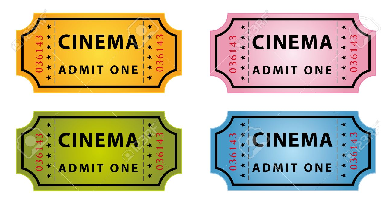 Set Of Four Color Cinema Tickets Royalty Free Cliparts Vectors And Stock Illustration Image 8709045