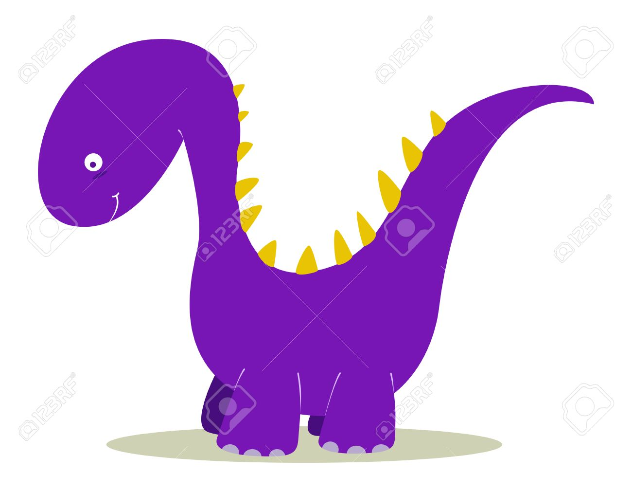 purple dinosaur for kids fun royalty free cliparts vectors and