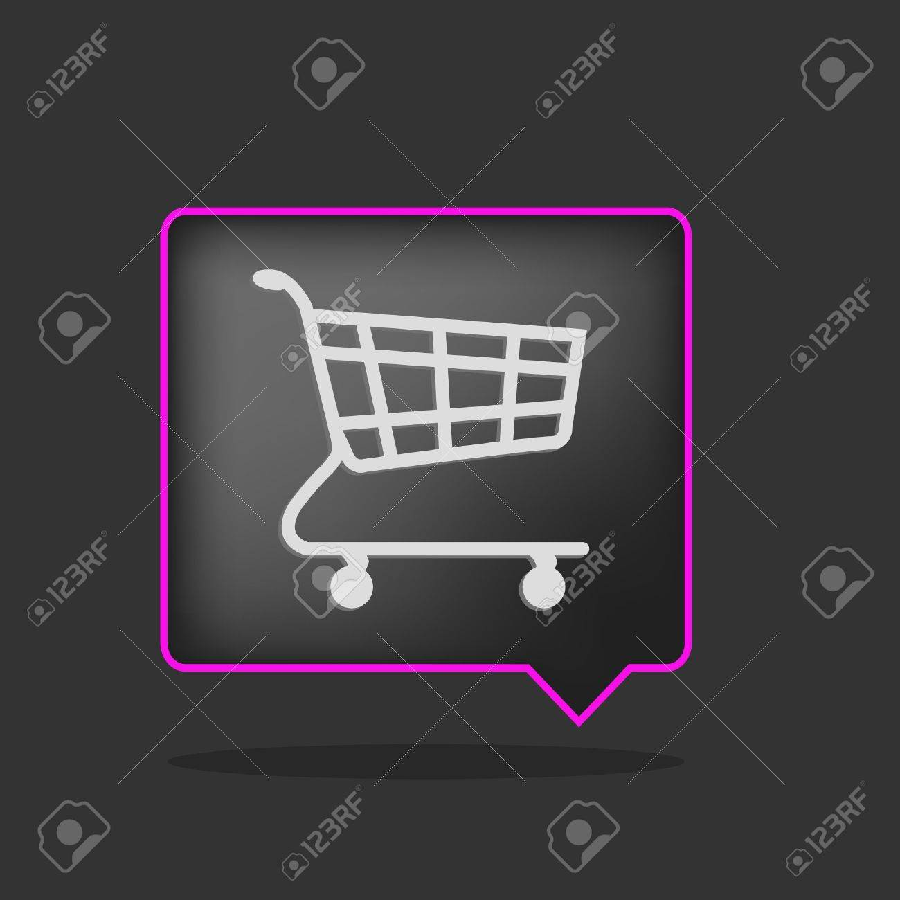 3d black and purple shopping cart Stock Vector - 9172693