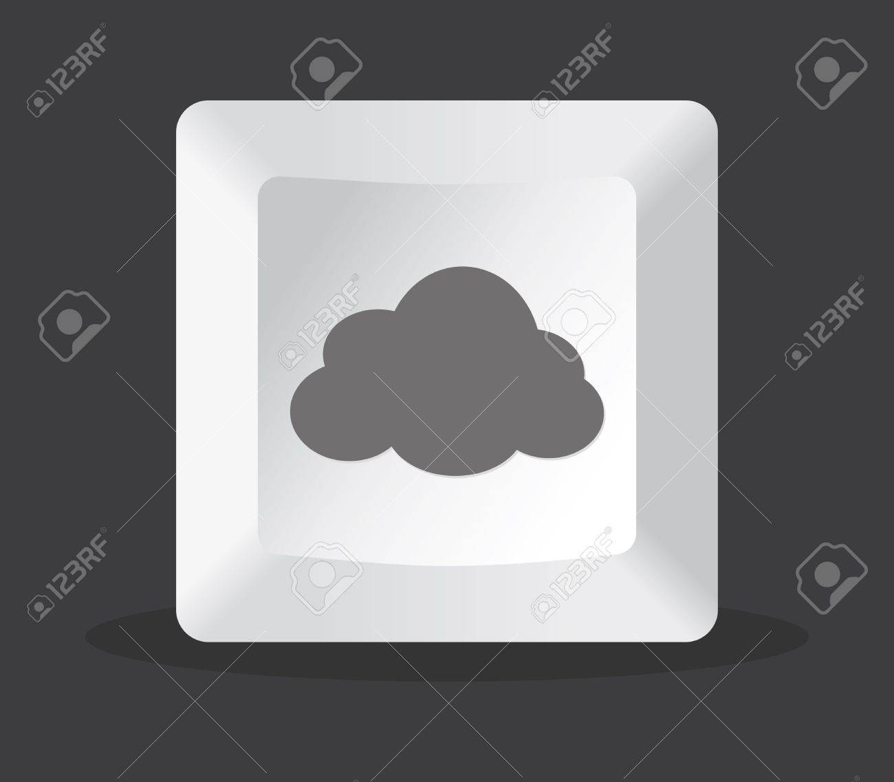 cloud key computer in black background Stock Vector - 9319695