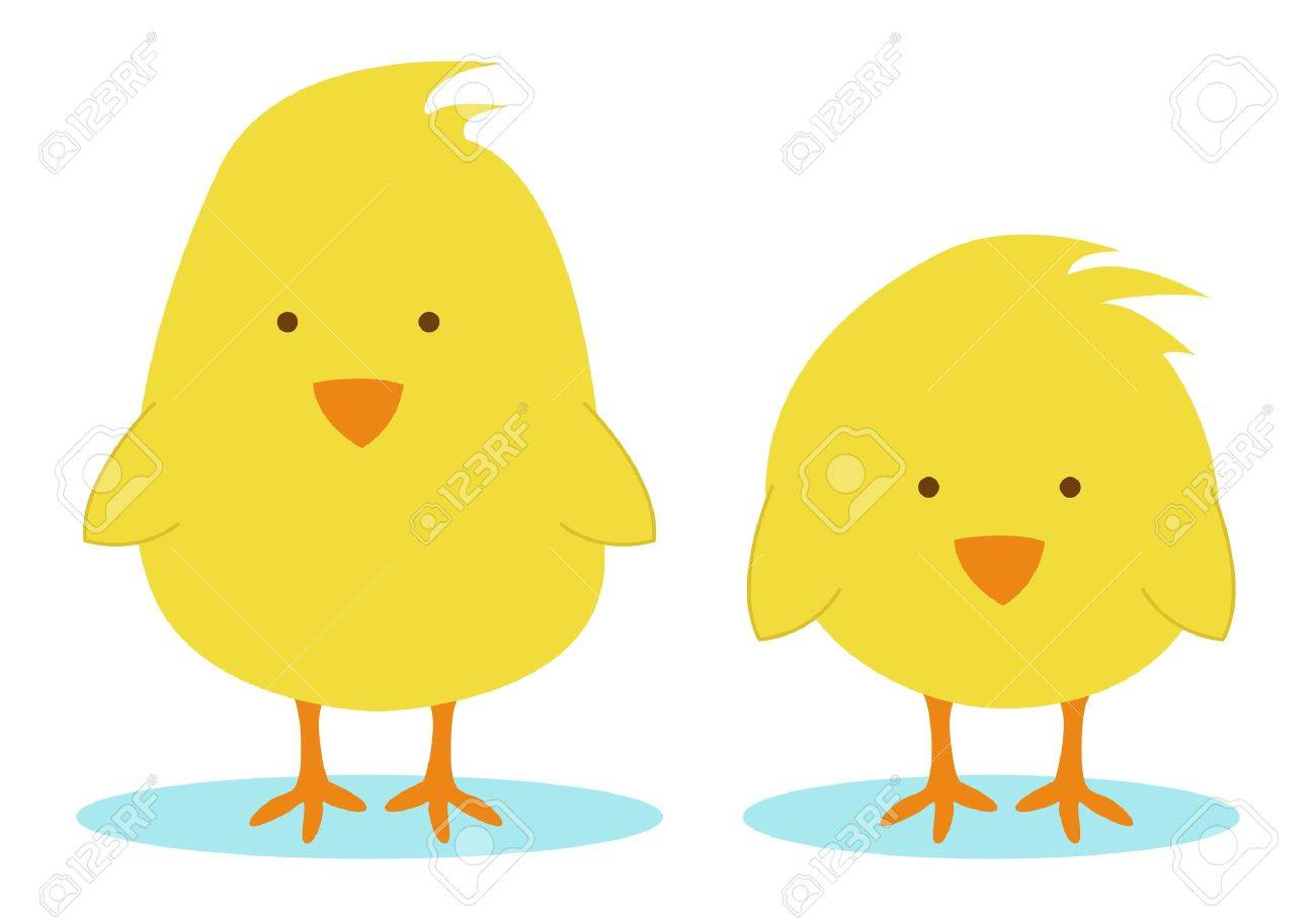 two little yellow chickens Stock Vector - 9716434