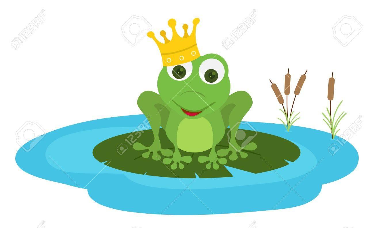 Asiento Del Príncipe Rana En Una Hoja De Poud Ilustraciones ...
