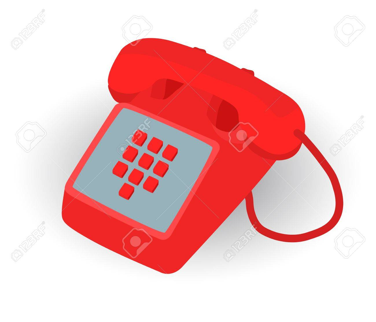 Red Phone For Emergency Call To 911 Royalty Free Cliparts, Vectors ...