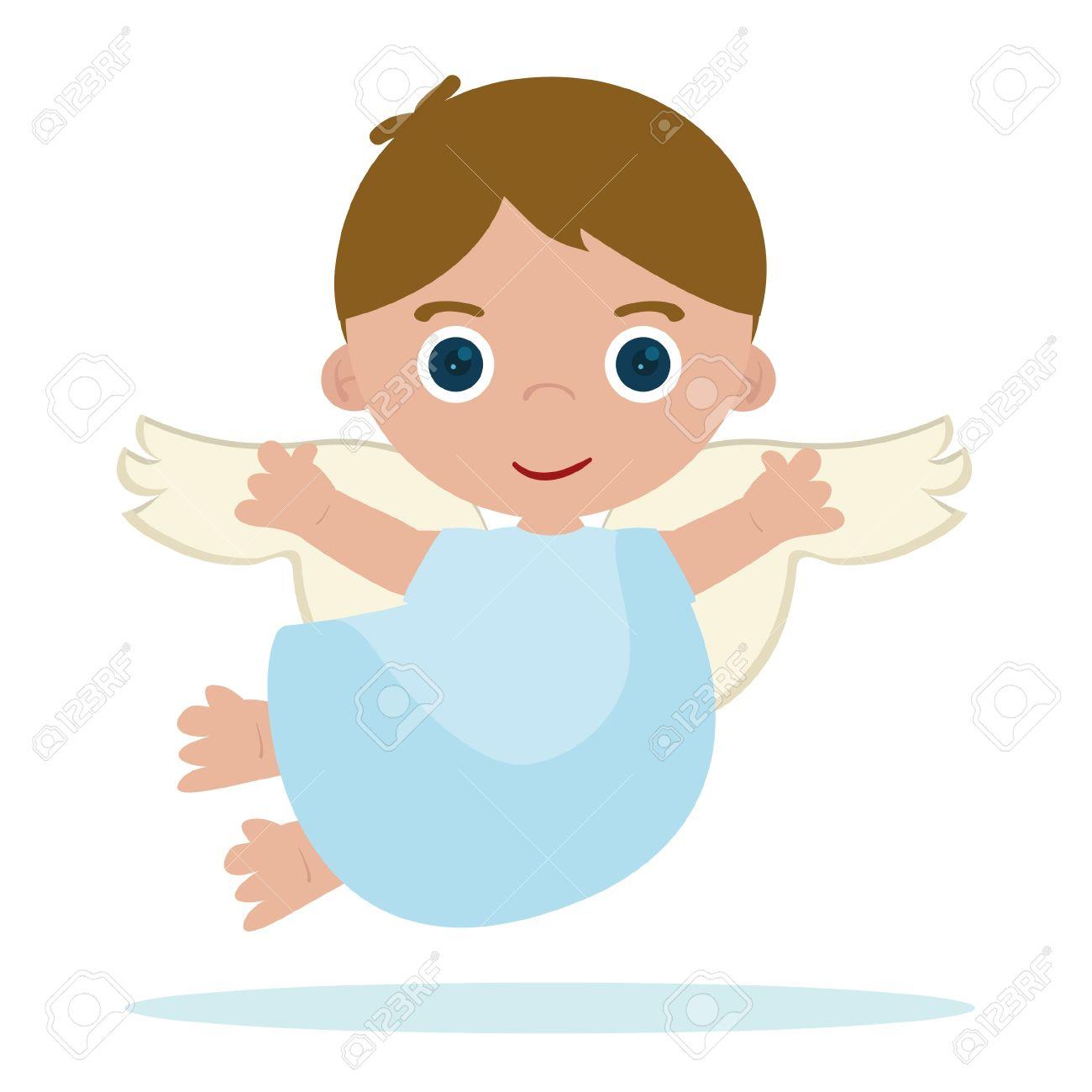 cute little angel flying in heaven - 15603180