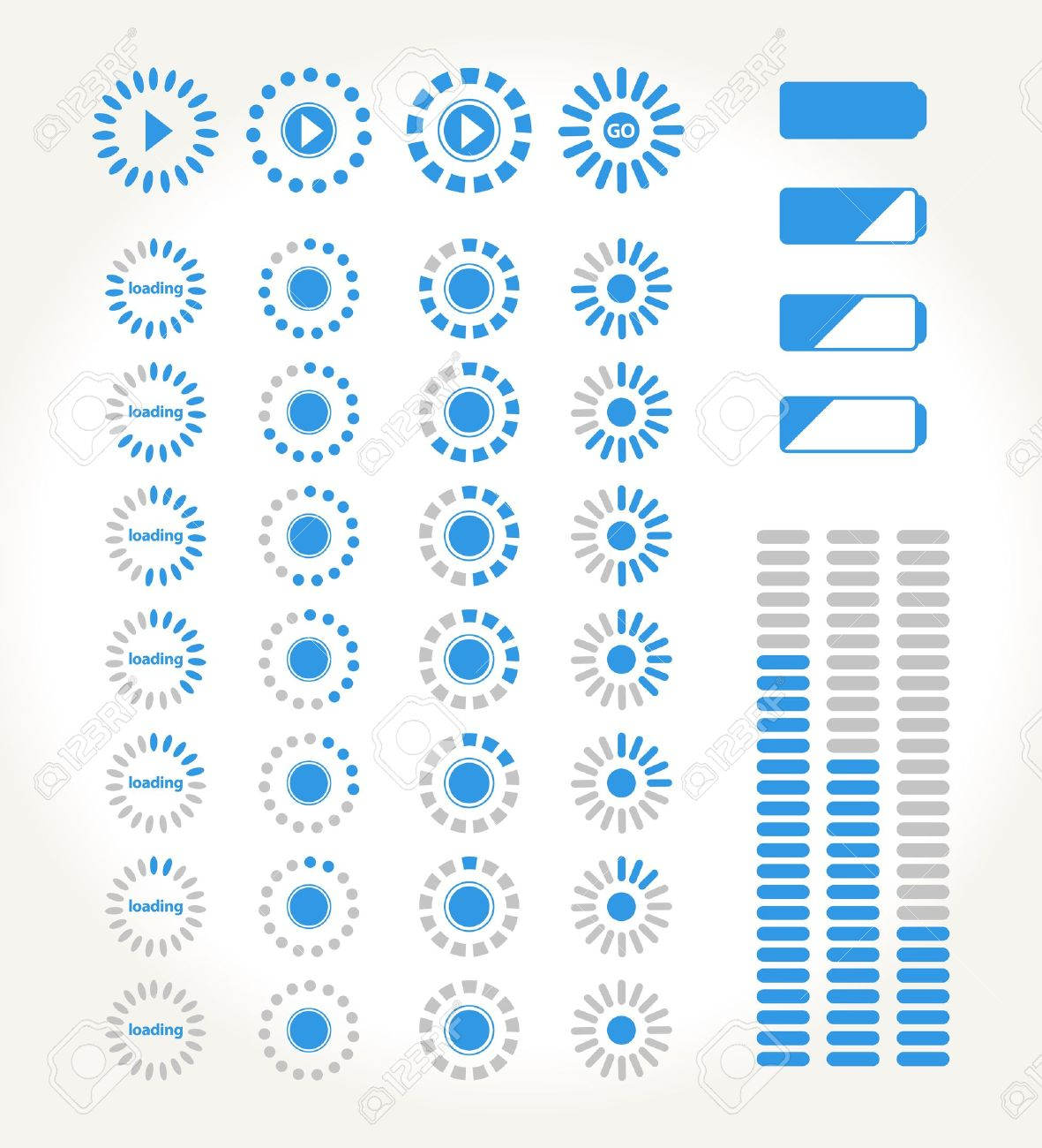set of streming icons for media - 18457377