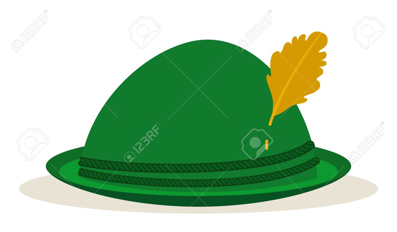bb79ba26 Green Oktoberfest Hat Traditional Holidays Royalty Free Cliparts ...