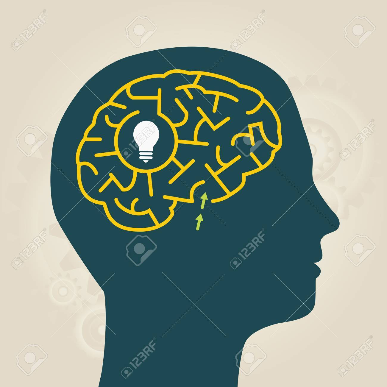 men with idea in mental labyrinth Stock Vector - 24442131