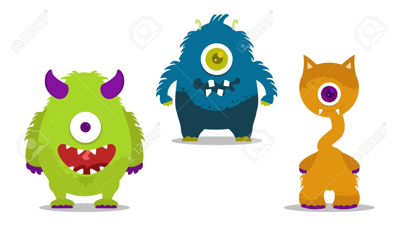 Cute Monsters Set With One Eye Royalty Free Cliparts Vectors And Stock Illustration Image 25310241