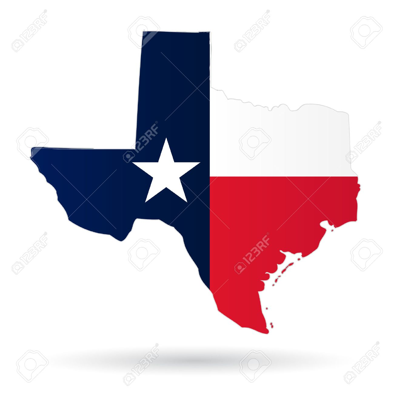 texas american state with flag silhouette - 30211572