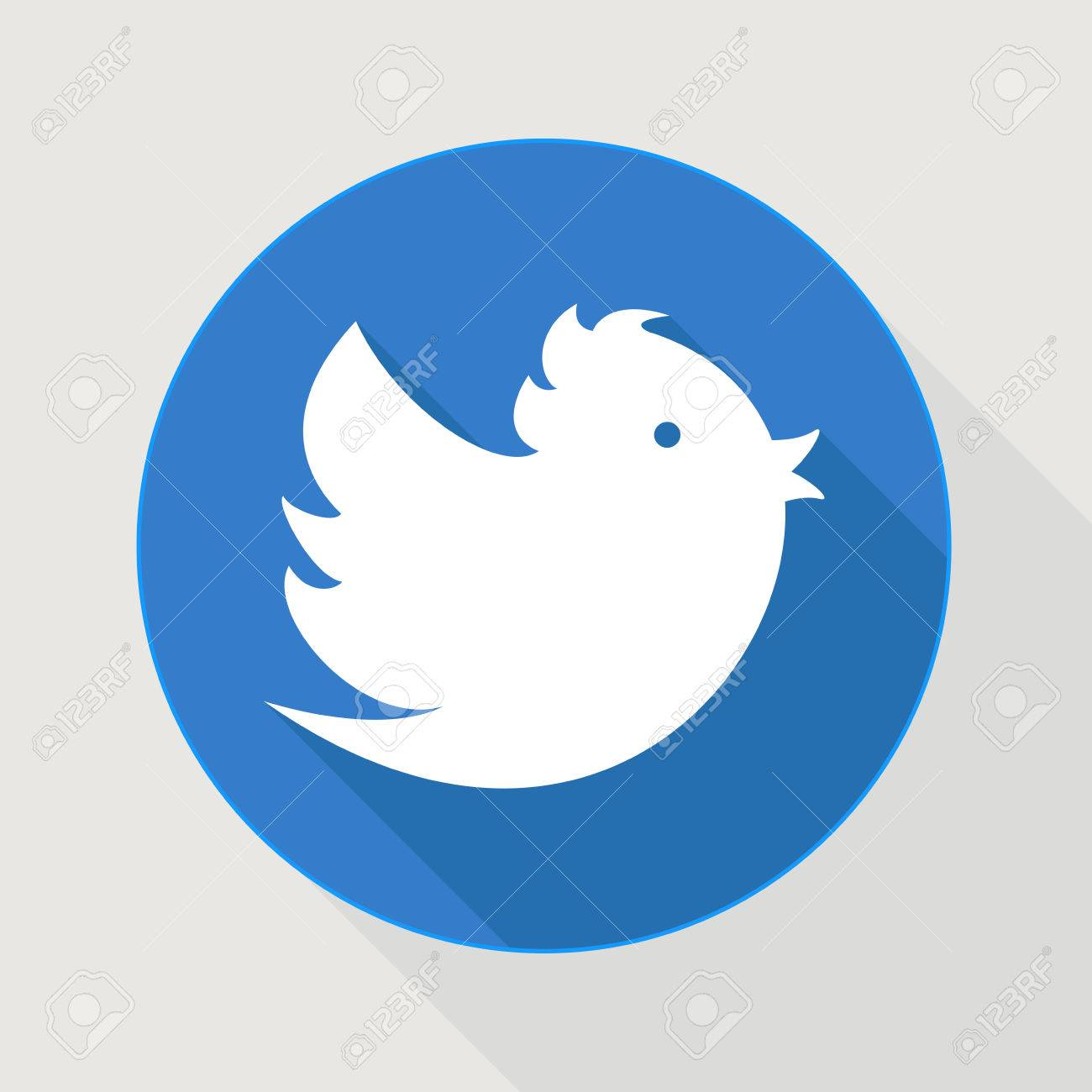 Flying blue twitter bird - 33530630