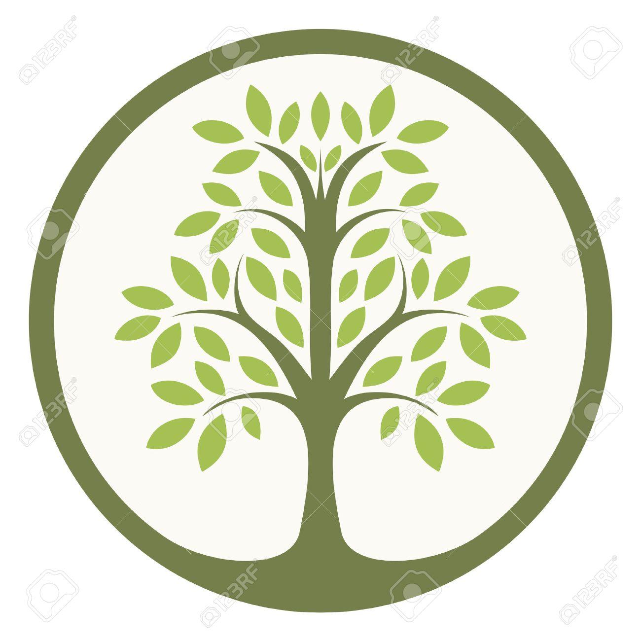 Grüner Baum Des Lebens In Einem Kreis Lizenzfrei Nutzbare